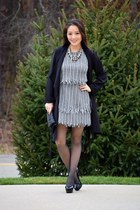 black sosie jacket - charcoal gray fringe asos dress