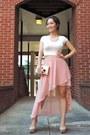 Pink-hi-low-forever-21-skirt-hot-pink-reese-riley-blazer