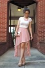 Pink-hi-low-forever-21-skirt-hot-pink-reese-riley-blazer