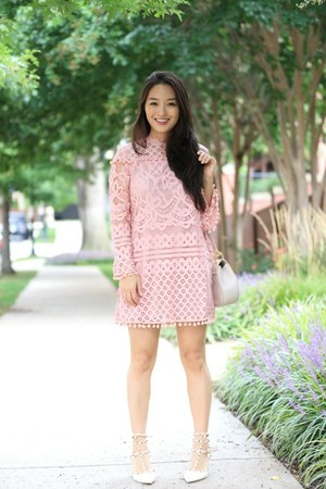 bubble gum Sheinside dress