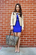 deep purple Charlotte Russe dress - beige Charlotte Russe jacket