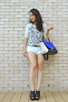 blue the quiet riot bag - white Almost Famous shorts