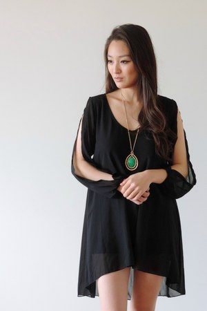 black Bikini Luxe dress - green Trendy Trinkets necklace