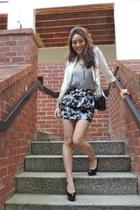 black Forever 21 skirt - white fitted H&M blazer