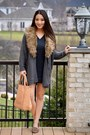 Charcoal-gray-old-navy-dress-tan-handbag-heaven-bag