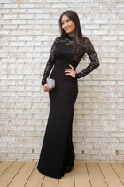 black ami clubwear dress - heather gray sparkly clutch Lily Rain bag