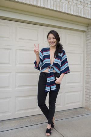 black skinny Silver Jeans jeans