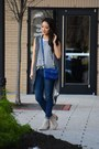 Tan-studded-ankle-cat-footwear-boots-navy-skinny-levis-jeans
