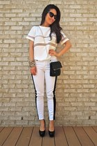 white mesh insert JYJZ top - black Charlotte Russe bag