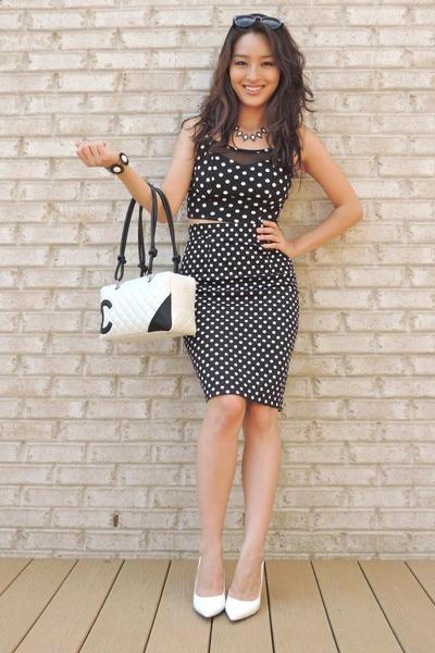 black Forever 21 skirt - black chicnova purse - white Chanel bag