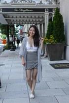 black Chicwish shorts - white free people bra