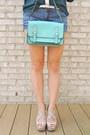 Blue-jean-cut-off-ag-denim-shorts-aquamarine-crossbody-kate-spade-bag