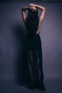 Black-hi-low-asos-dress