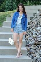 ivory crossbody AmiClubWear bag - blue jean OASAP jacket