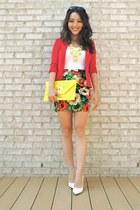 red Forever 21 skirt - red Sparkle & Fade blazer