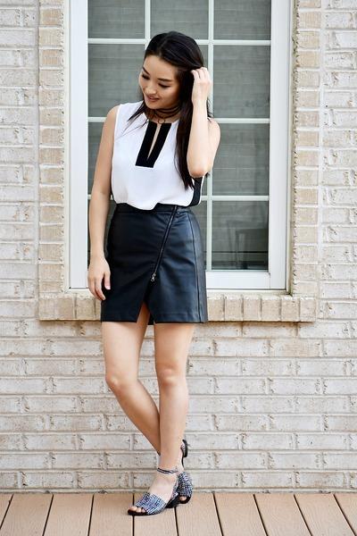 black Maumero shoes - black banana republic skirt