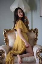 gold asos dress
