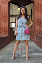 blue Bijoux Boutique necklace - sky blue denim Charlotte Russe dress