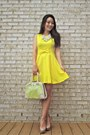 Yellow-skater-yrb-fashion-dress-lime-green-quasi-vintage-darling-bag