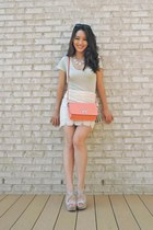eggshell crochet pencil Forever 21 skirt - lime green v-neck BCBGeneration shirt