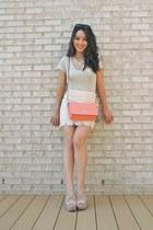 eggshell crochet pencil Forever 21 skirt - lime green v-neck BCBGeneration shirt