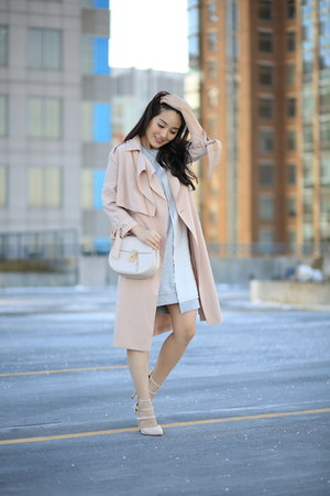 heather gray asos dress - neutral All Saints coat