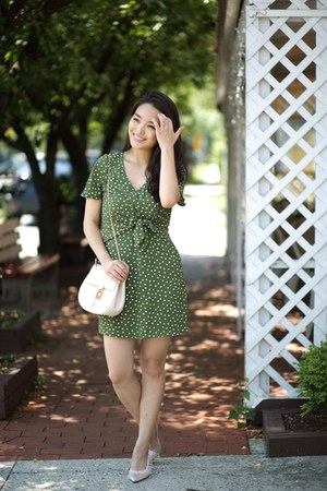 olive green polka dot francescas dress