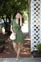 olive green polka dot francescas dress