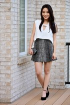 black fluted bandage bcbg max azria skirt - black JWholesale bag