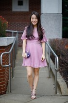 bubble gum pleated asos dress - deep purple Full Line Collection bag