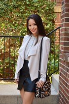 silver drape castro blazer - black castro heels