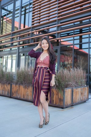 coral lace bralette free people top - maroon striped midi asos skirt