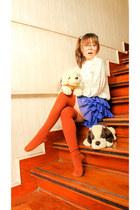 tawny Forever 21 socks - blue Vanillapop skirt