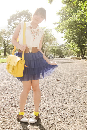 bronze AsianVogue shoes - yellow Glam-Rock Manila bag - yellow Esprit socks