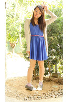heather gray AsianVogue shoes - blue SM GTW dress - periwinkle Dickies socks