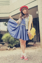 red sm accessories hat - blue SM GTW dress - yellow GlamRock Manila bag