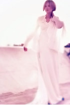 white wedding vintage dress