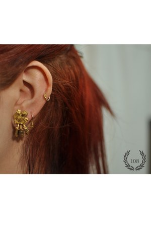 gold New York Adorned earrings