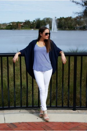 navy sheer kimono Tobi cardigan - white skinny jeans hollister jeans