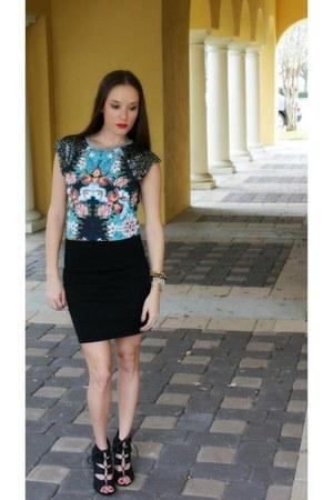 Target top - black bandage Sophie & Trey skirt