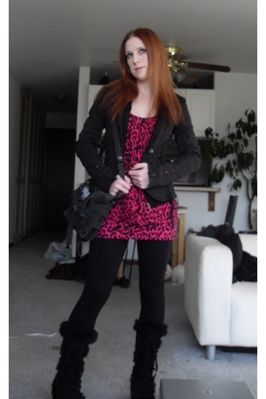 tripp blazer - sweater - Forever 21 top - Forever 21 leggings - Demonia boots -