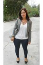 Navy-jeans-heather-gray-h-m-blazer-white-camaieu-shirt