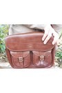 Dark-brown-satchel-vintage-bag-silver-ovs-jeans