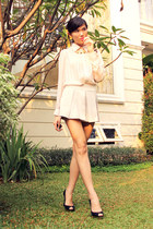 black gold platform Zara heels
