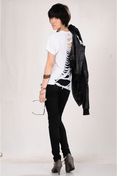 shirt - Zara jacket - Zara jeans - forever 21 accessories - rayban sunglasses -