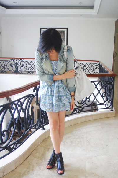 pull&bear jacket - bloop endorse dress - Mitchybelle boots