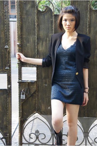 blazer - Forever21 dress - belle shoes