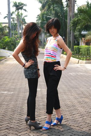 Zara top - bloop endorse pants - pedder red shoes