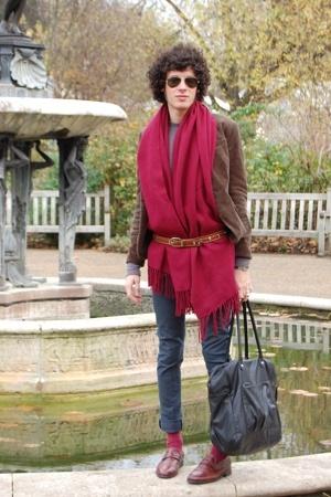 vintage belt - Rokit jacket - Absolute Vintage shoes - HyM jeans