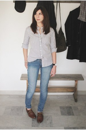 Jcrew shirt - Zara shoes - Cheap Monday jeans
